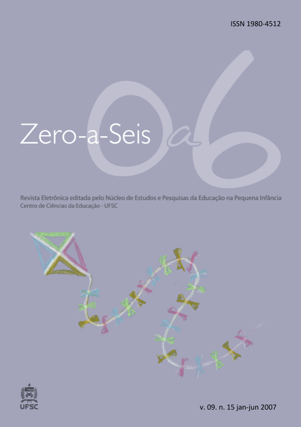 Visualizar v. 9 n. 15 (2007): ZERO-A-SEIS (JAN./JUN. 2007)
