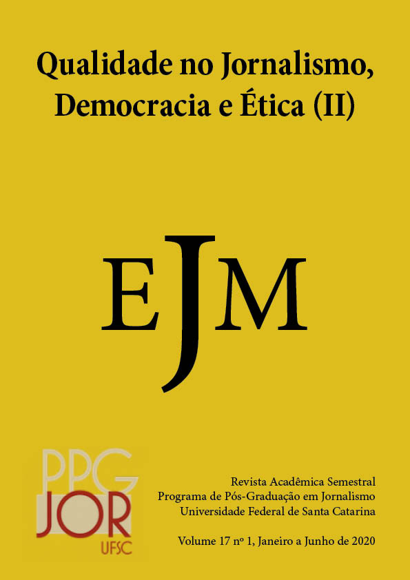 Visualizar v. 17 n. 1 (2020): Qualidade no Jornalismo, Democracia e Ética (2)