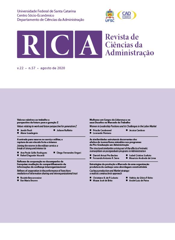 Visualizar v. 22 n. 57 (2020): Revista de Ciências da Administração