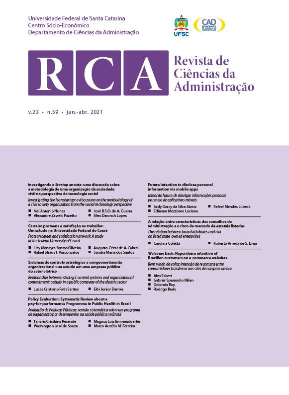 Visualizar v. 23 n. 59 (2021): Revista de Ciências da Administração