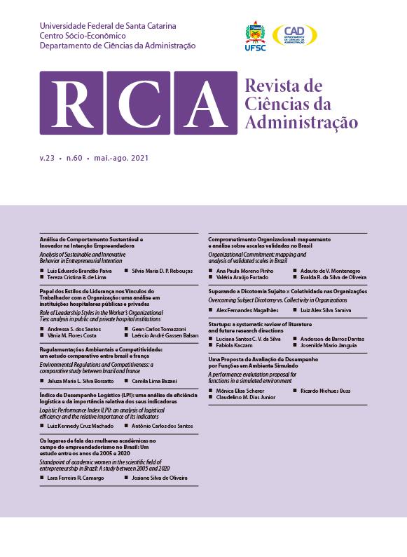 Visualizar v. 23 n. 60 (2021): Revista de Ciências da Administração