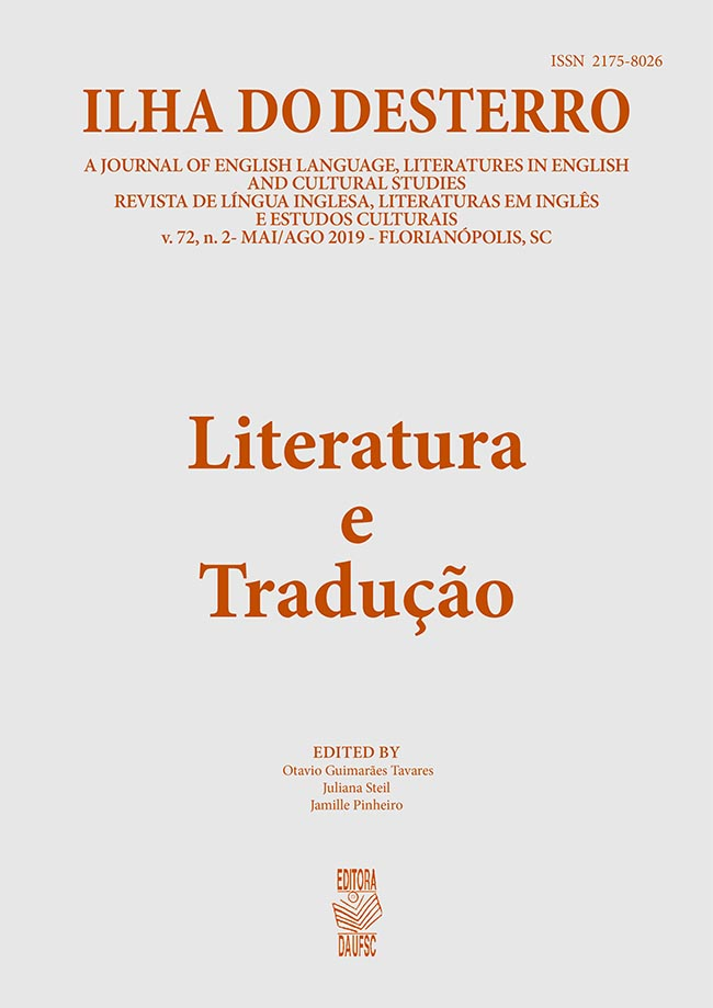 Visualizar v. 72 n. 2 (2019): Literature and Translation
