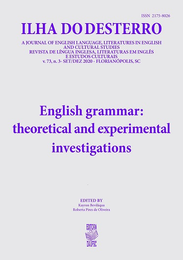 Visualizar v. 73 n. 3 (2020): English grammar: theoretical and experimental investigations