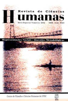 Visualizar N. 6 - Representações Sociais: Questões Metodológicas - 2002 (Edições temáticas)